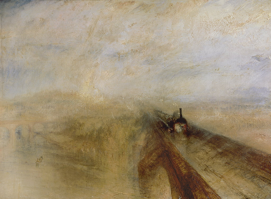 Rain Steam and Speed, The Great Western Railway by Joseph Mallord William Turner