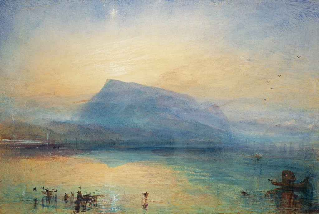 The Blue Rigi: Lake of Lucerne - Sunrise, 1842  by Joseph Mallord William Turner