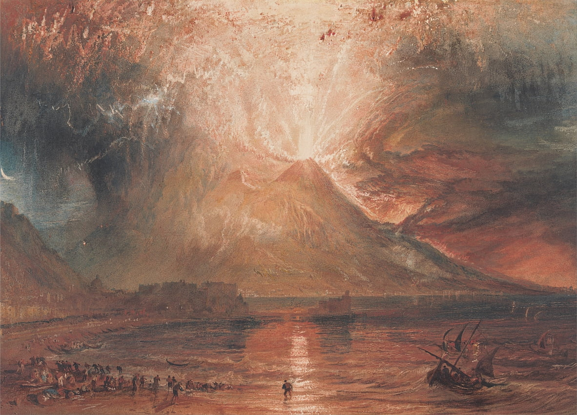 Vesuvius in Eruption by Joseph Mallord William Turner