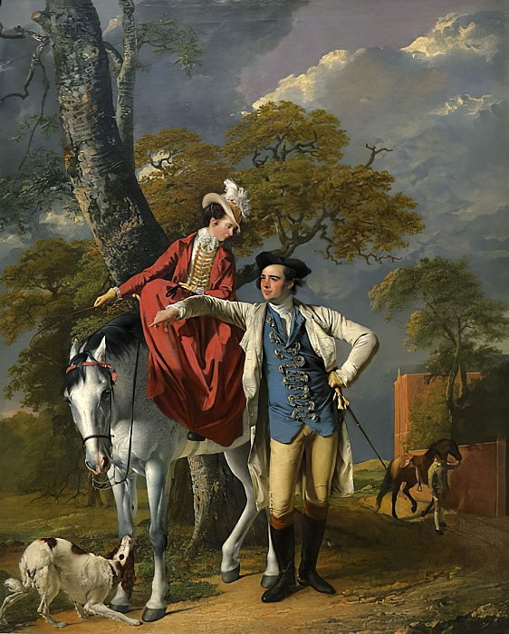 Mr. and Mrs. Thomas Coltman, c.1770-72 by Joseph Wright of Derby
