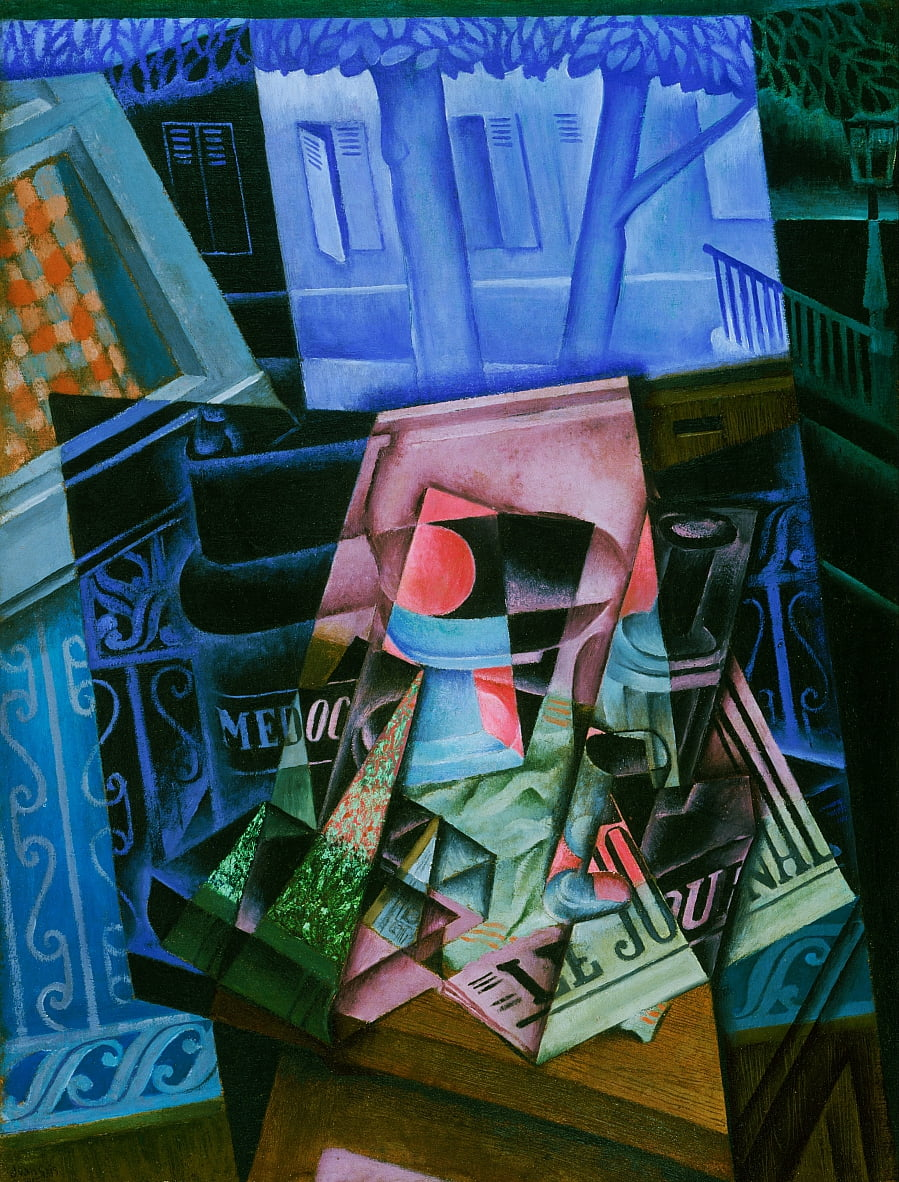 Still Life before an Open Window, Place Ravignan by Juan Gris