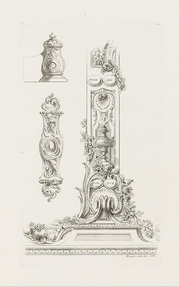 Design of Fragments of the Border by Juste Aurèle Meissonnier