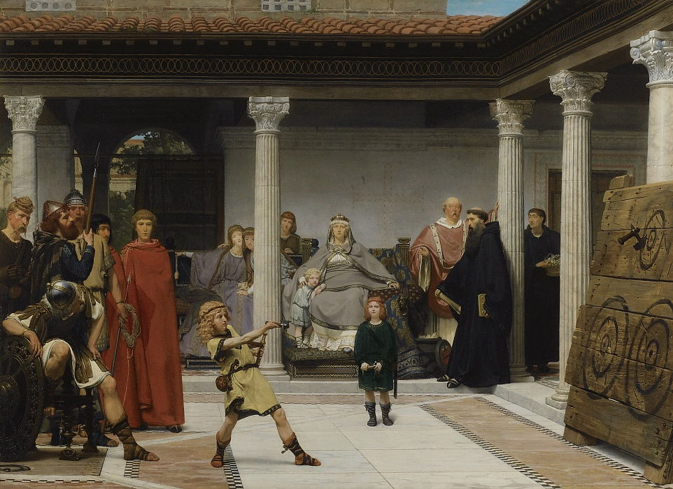 The Education of the children of Clovis, 1861 by Lawrence Alma Tadema