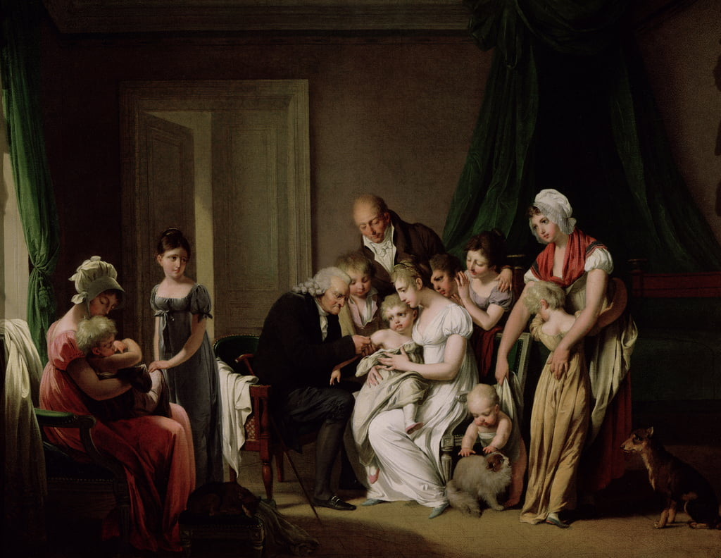 The Vaccination  by Louis Leopold Boilly