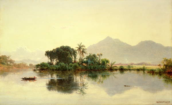 On the Orinoco, Venezuela, 1857 by Louis Rémy Mignot
