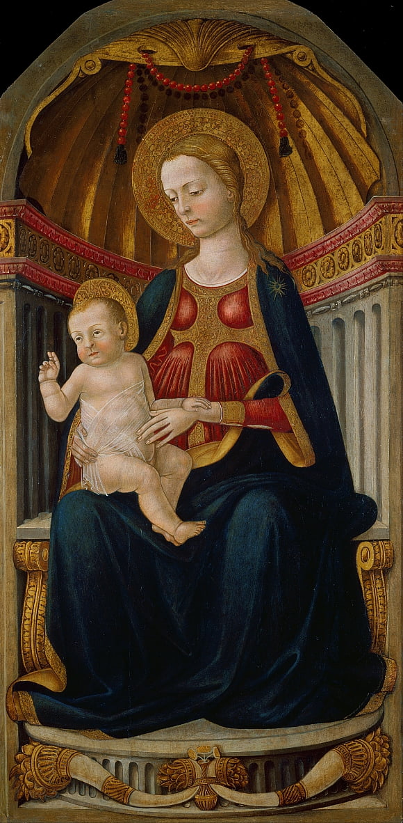 Virgin and Child on the Throne by Neri di Bicci