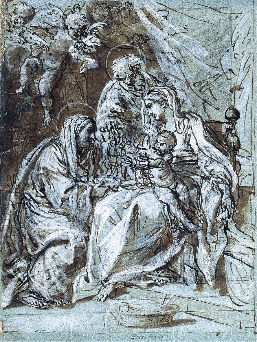 The Holy Family and Saint Ann, Reading a Psalm by Niccolò Berrettoni