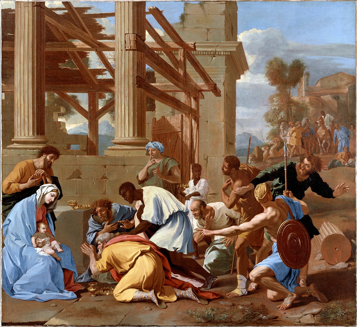 The Adoration of the Magi by Nicolas Poussin