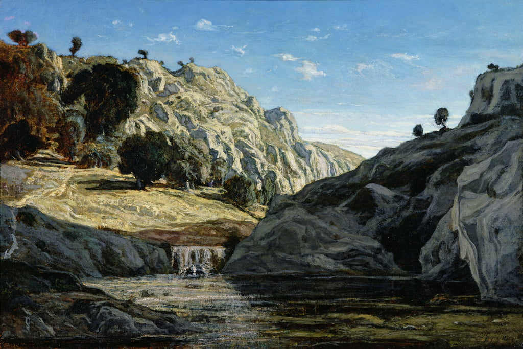 Memories of Ollioules gorge, 1861  by Paul Camille Guigou