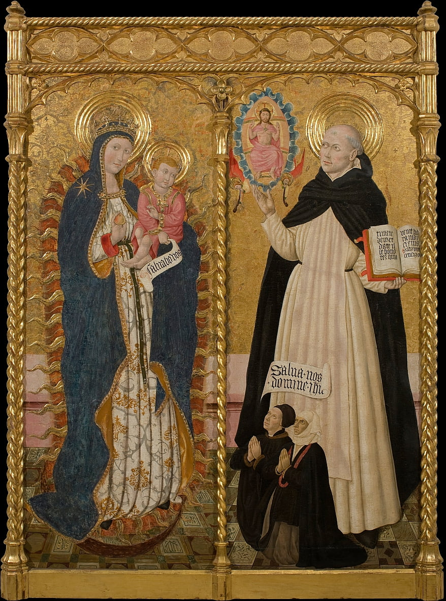 Apocalyptic Virgin and Saint Vincent Ferrer with two Donors by Pedro García de Benabarre