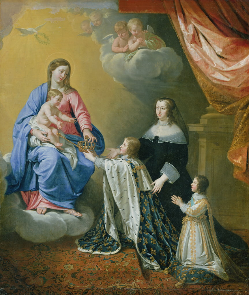 The Virgin Mary gives the Crown and Sceptre to Louis XIV, 1643  by Philippe de Champaigne