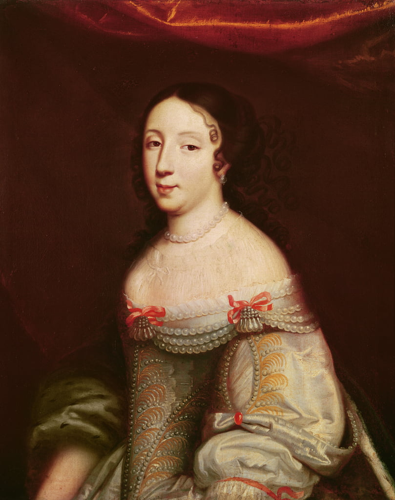 Portrait of Anne of Austria (1601-1666), Infanta of Spain, Queen consort of France and Navarre (1615-1643) by Philippe de Champaigne