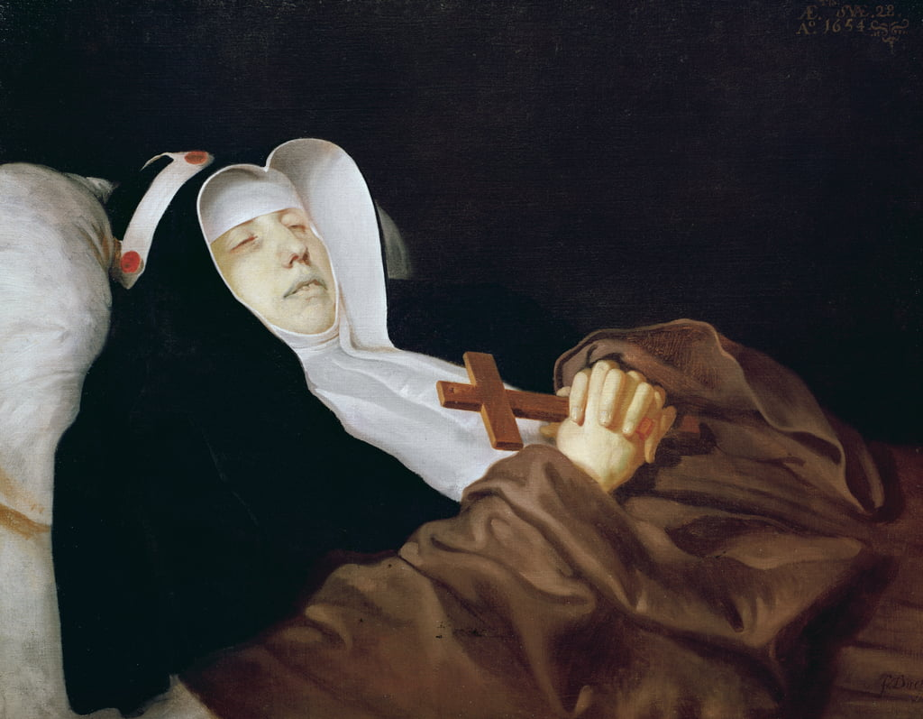The Religious Order of Saint Bridget on her Deathbed, 1634  by Philippe de Champaigne