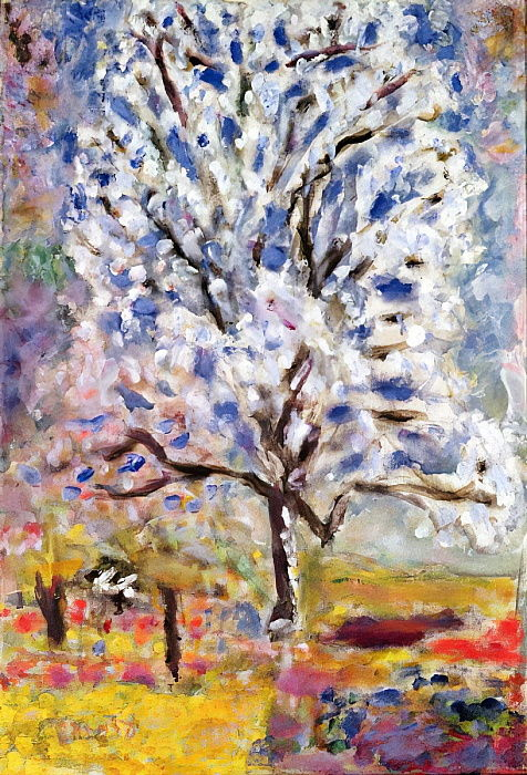 The Almond Tree in Blossom, 1947  by Pierre Bonnard