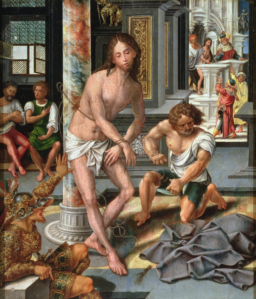 The Flagellation by Pieter Coecke van Aelst