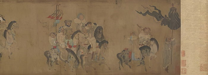 Cai Wenji Returning to China, 17th-18th century  by Qing Dynasty Chinese School