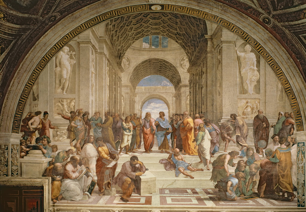 School of Athens, from the Stanza della Segnatura, 1510-11  by Raffaello Santi