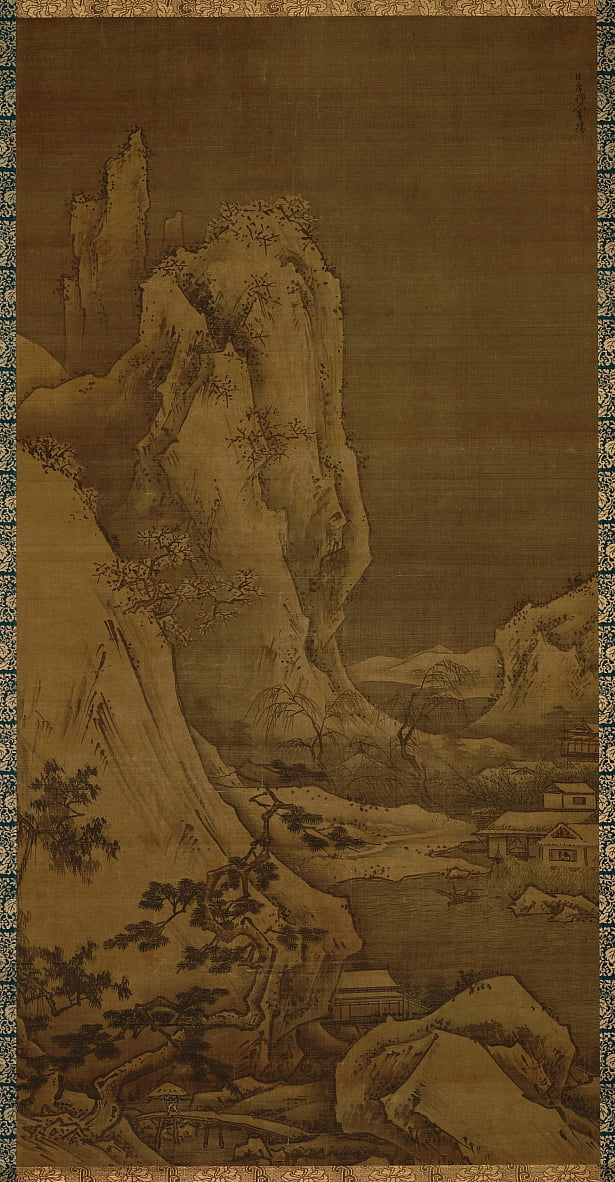 Landscape of four seasons- winter by Toyo Sesshu