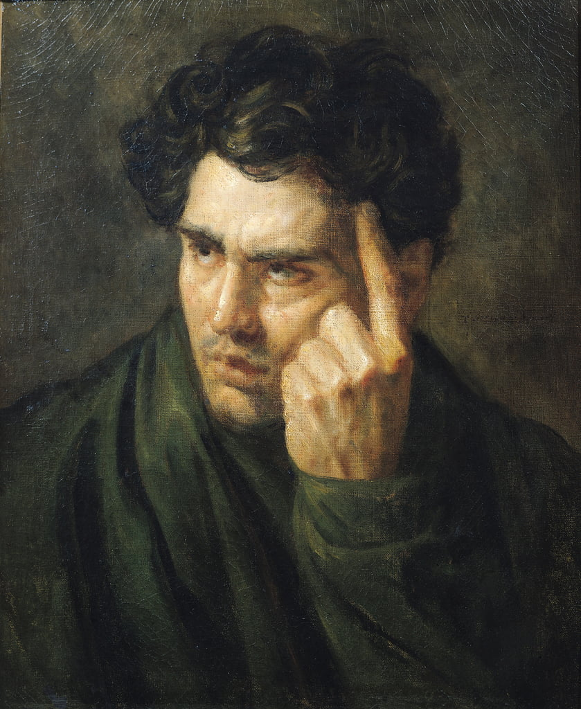 Portrait of Lord Byron (1788-1824)  by Theodore Gericault