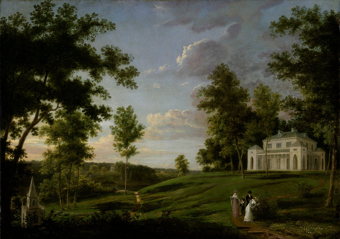 Southeast View of Sedgeley Park, the Country Seat of James Cowles Fisher, Esq. by Thomas Birch