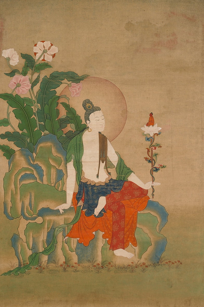 Avalokiteshvara, One of the Eight Great Bodhisattvas by Unbekannt Unbekannt