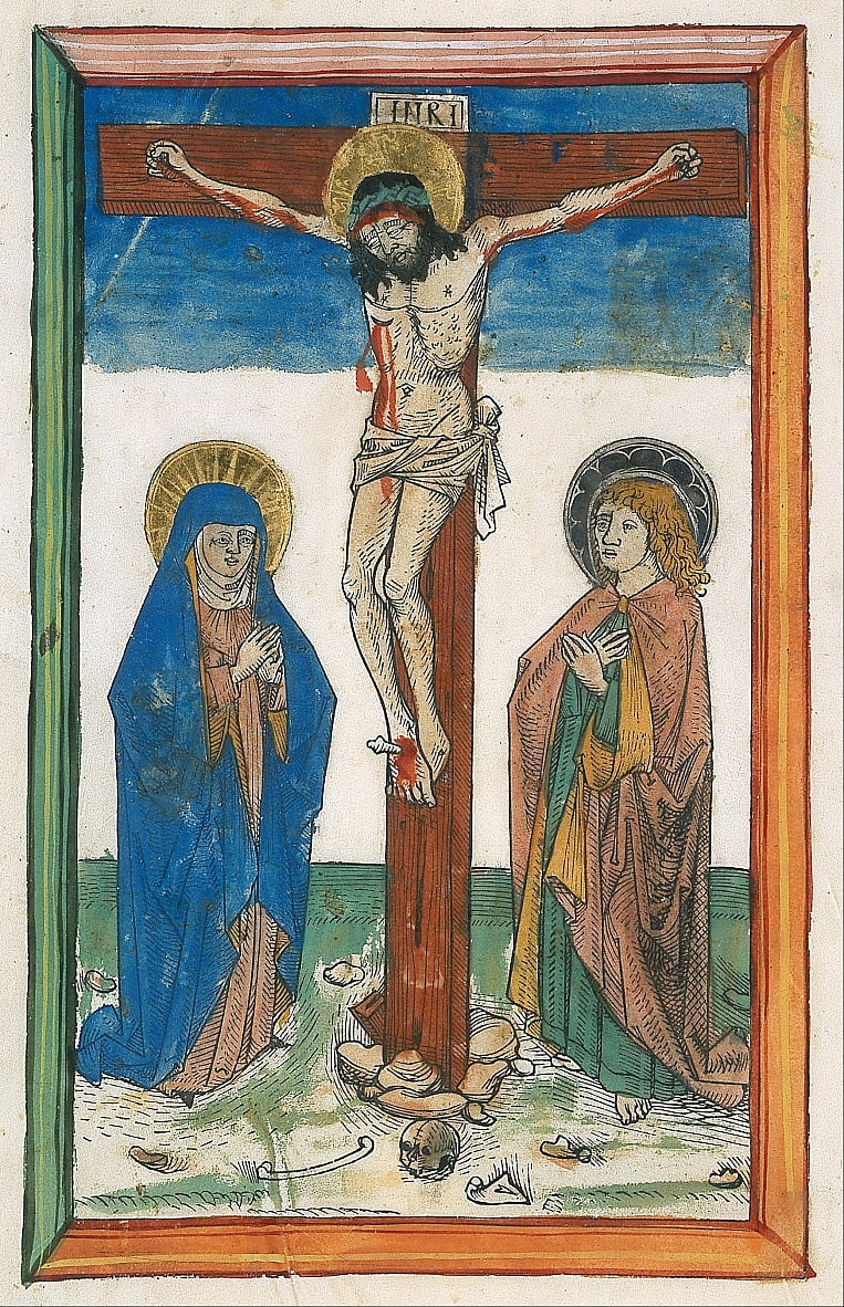 Christ on the Cross between the Virgin and Saint John (Canon Crucifixion) by Unbekannt Unbekannt