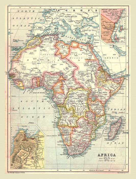 Map of Africa, 1902.   by Unbekannt