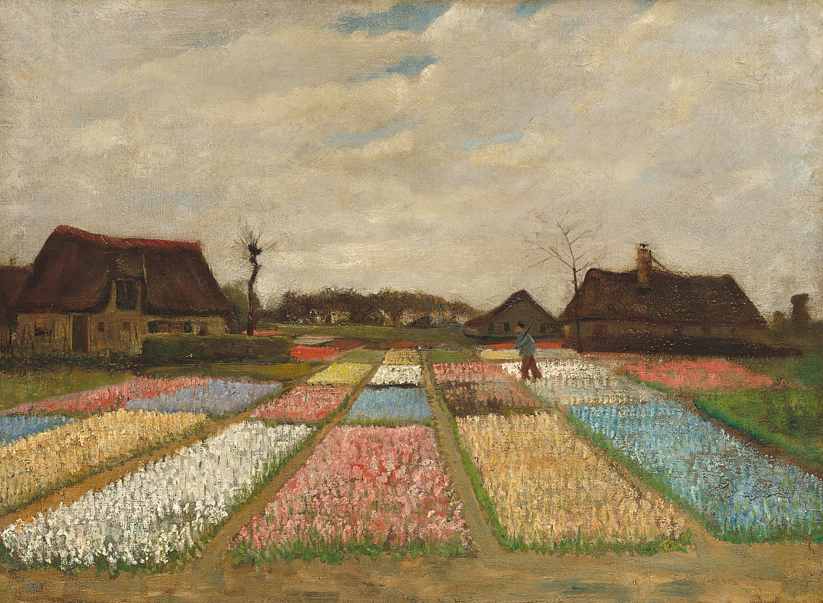 Flower Beds in Holland / Bulb Fields by Vincent van Gogh