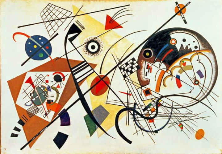 Intersecting Lines, 1923 by Wassily Kandinsky
