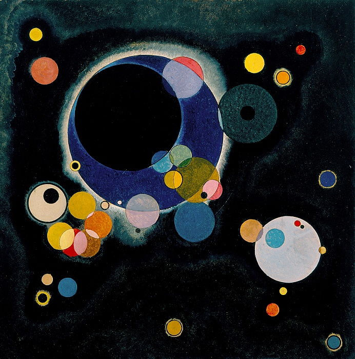 Several Circles, 1926 by Wassily Kandinsky
