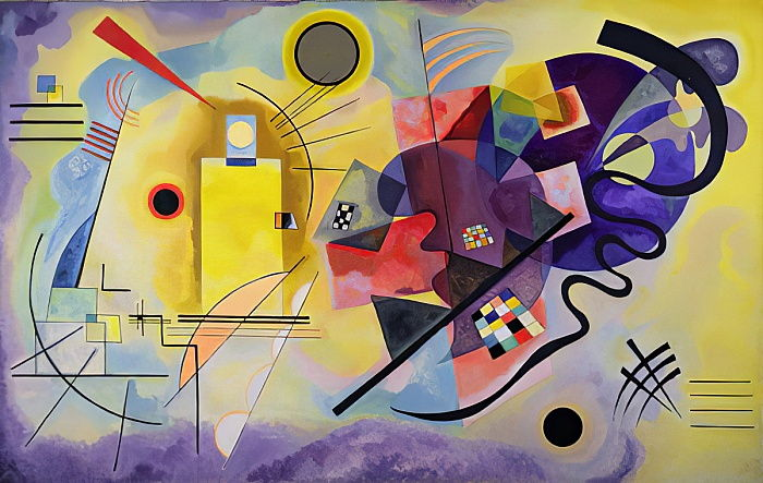 Yellow, Red, Blue by Wassily Kandinsky