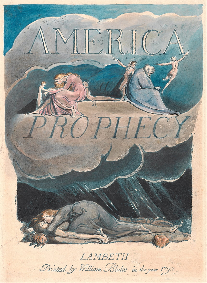 America. A Prophecy, Plate 2, Title Page by William Blake