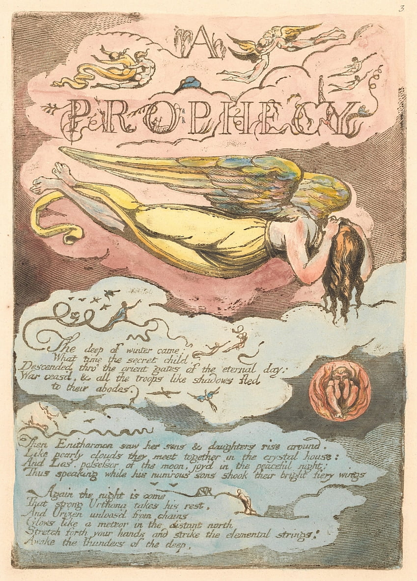 Europe. A Prophecy, Plate 5,  by William Blake