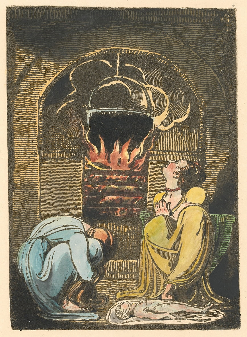 Europe. A Prophecy, Plate 8 (Bentley 9) by William Blake