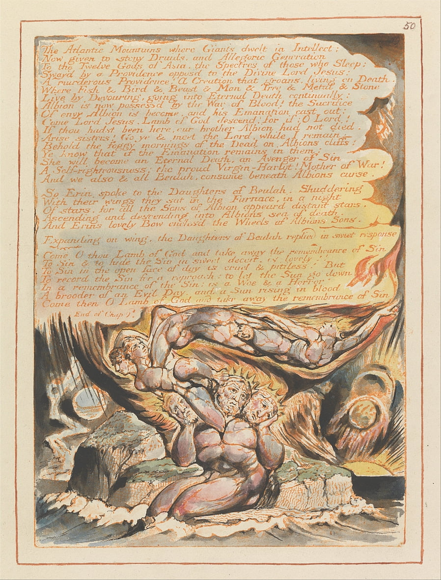 Jerusalem, Plate 50,  by William Blake