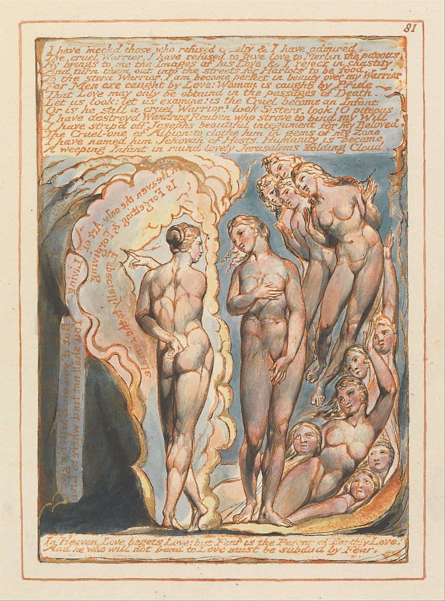 Jerusalem, Plate 81, I have mockd those.... by William Blake