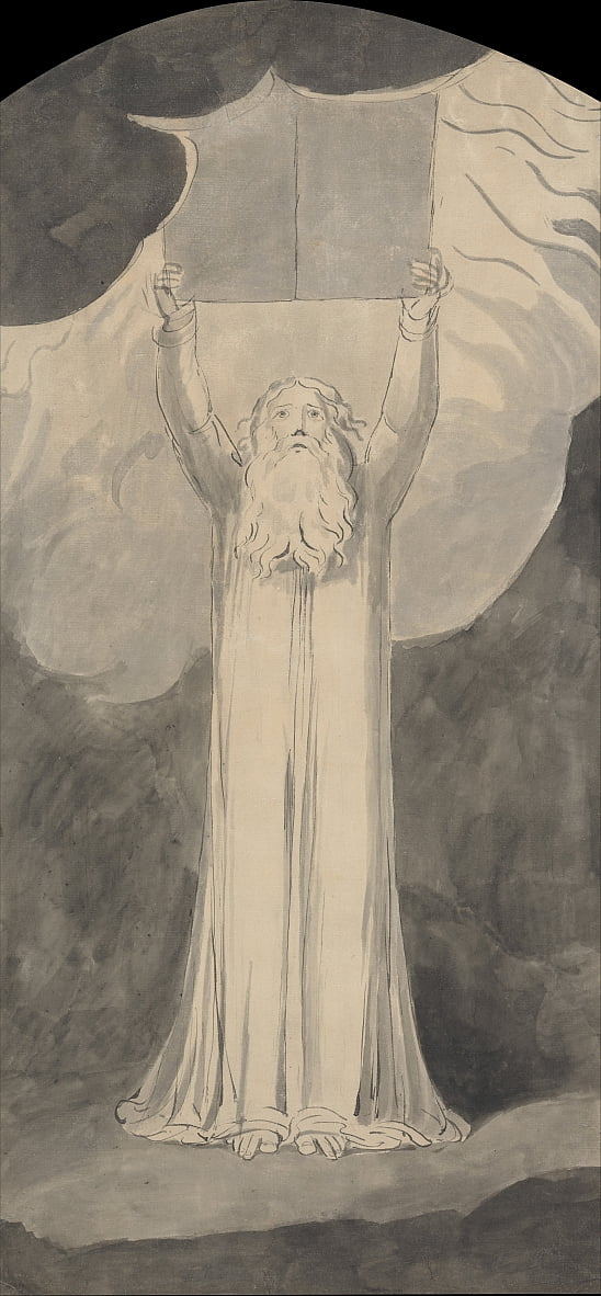 Moses Receiving the Law by William Blake
