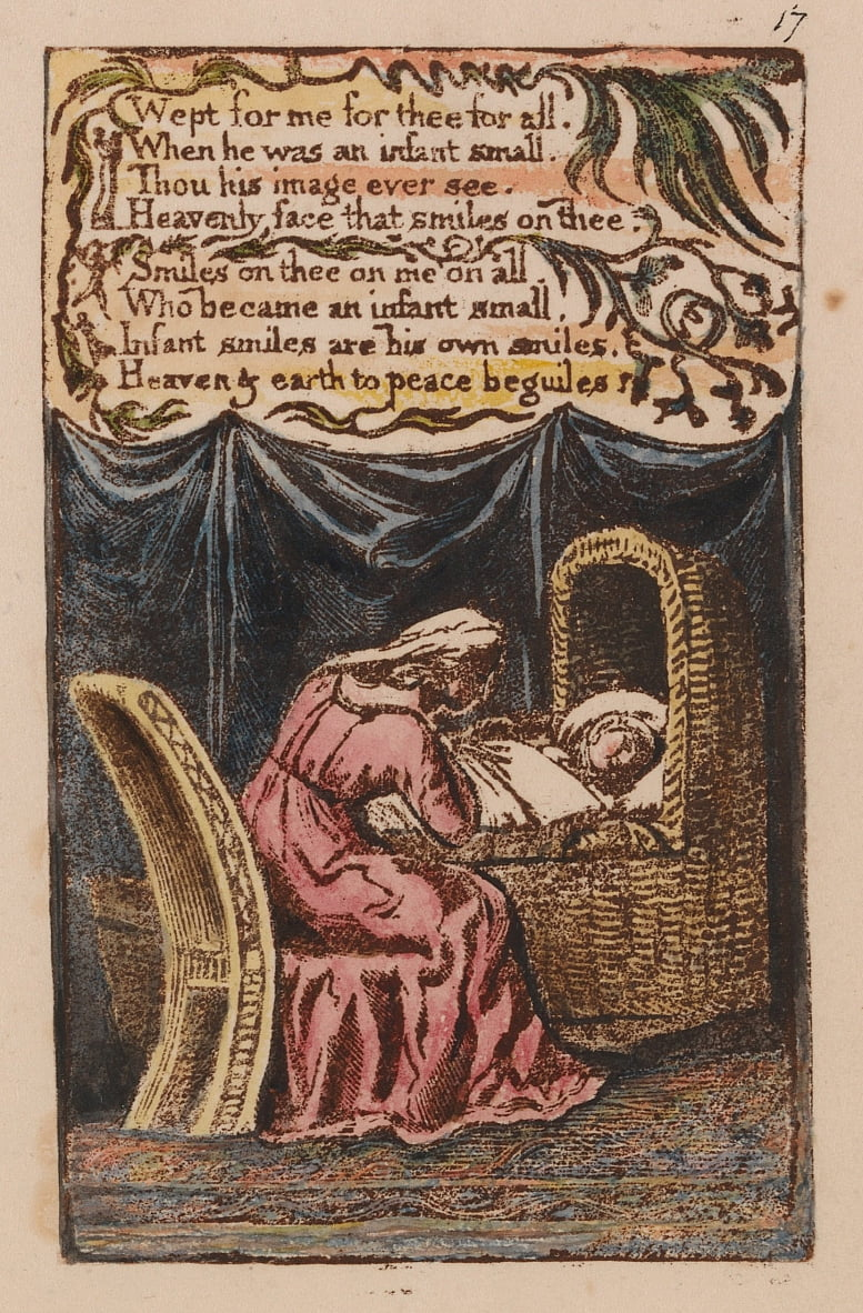 Songs of Innocence and of Experience, Plate 17, A Cradle Song (Bentley 17) by William Blake