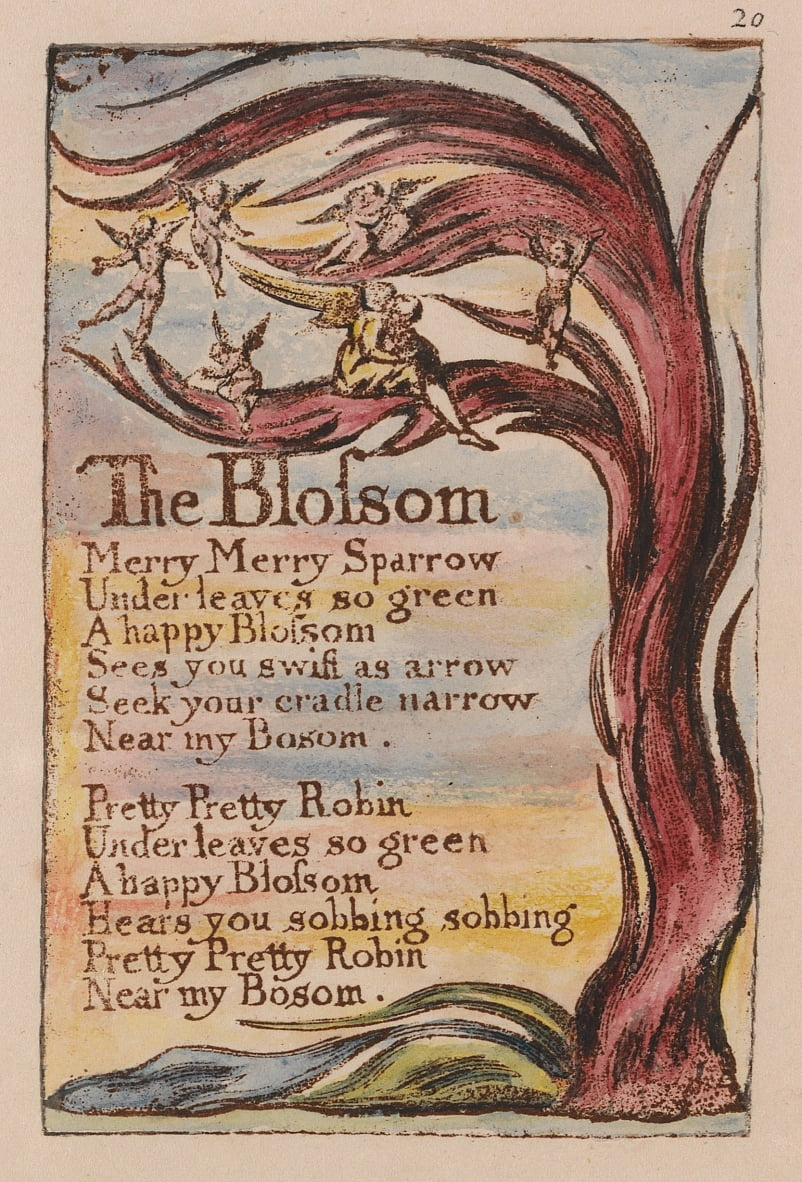 Songs of Innocence and of Experience, Plate 20,  by William Blake