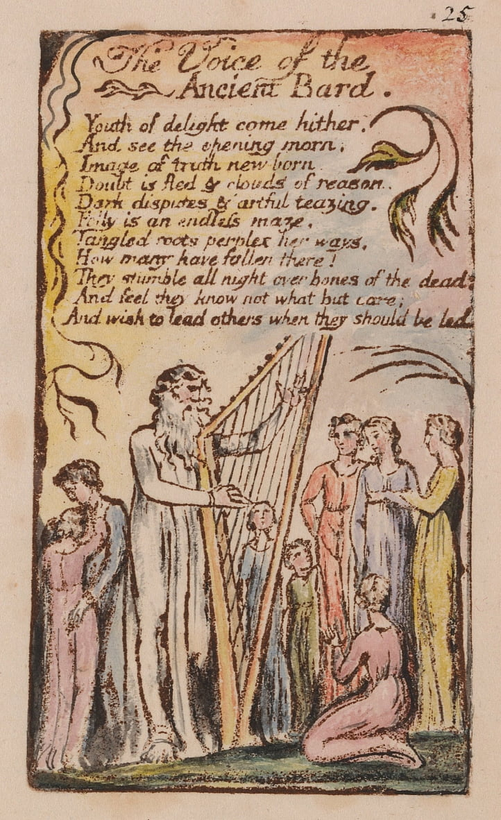 Songs of Innocence and of Experience, Plate 25,  by William Blake