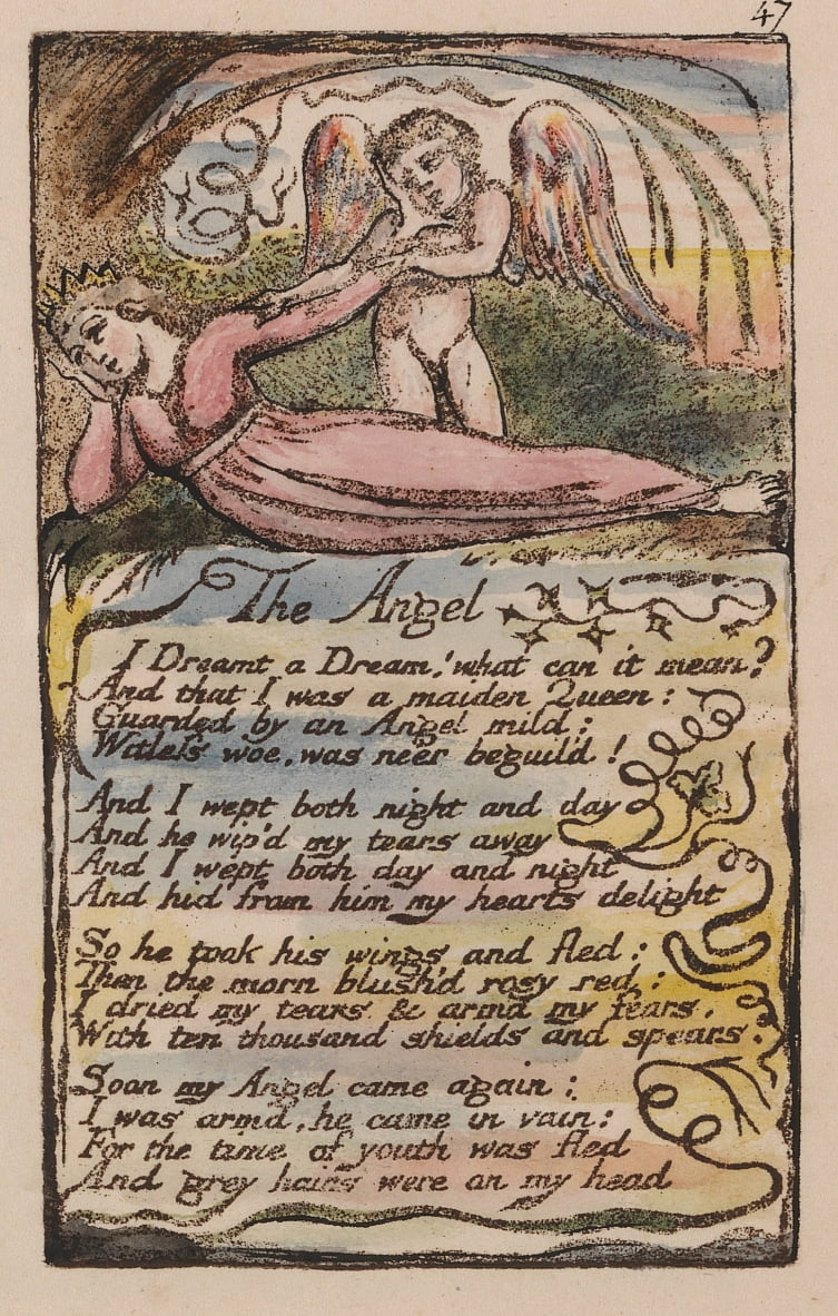 Songs of Innocence and of Experience, Plate 47, The Angel (Bentley 41) by William Blake