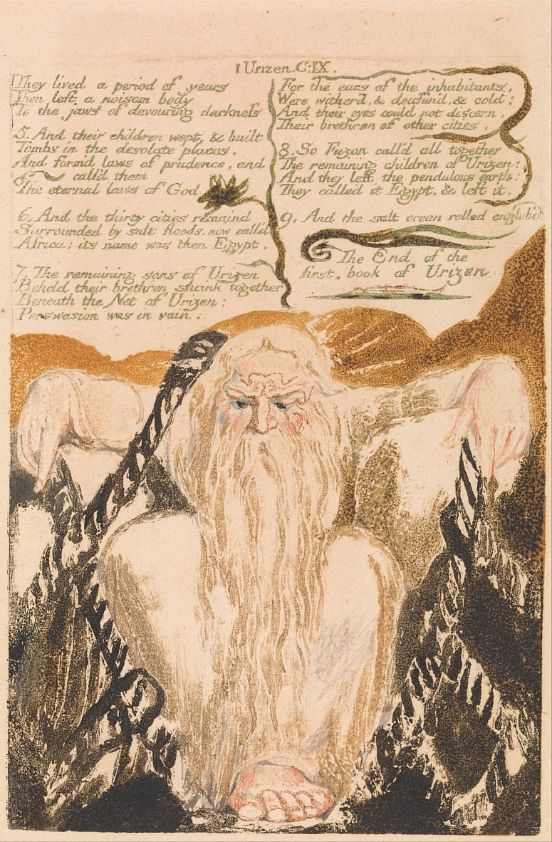 The First Book of Urizen, Plate 25, They lived a period of years . . . . (Bentley 28) by William Blake