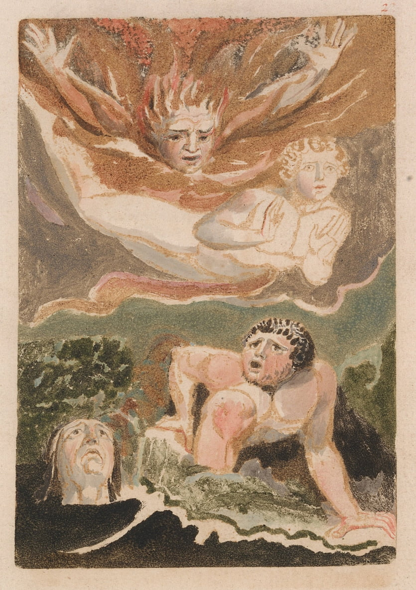 The First Book of Urizen, Plate 4 (Bentley 24) by William Blake