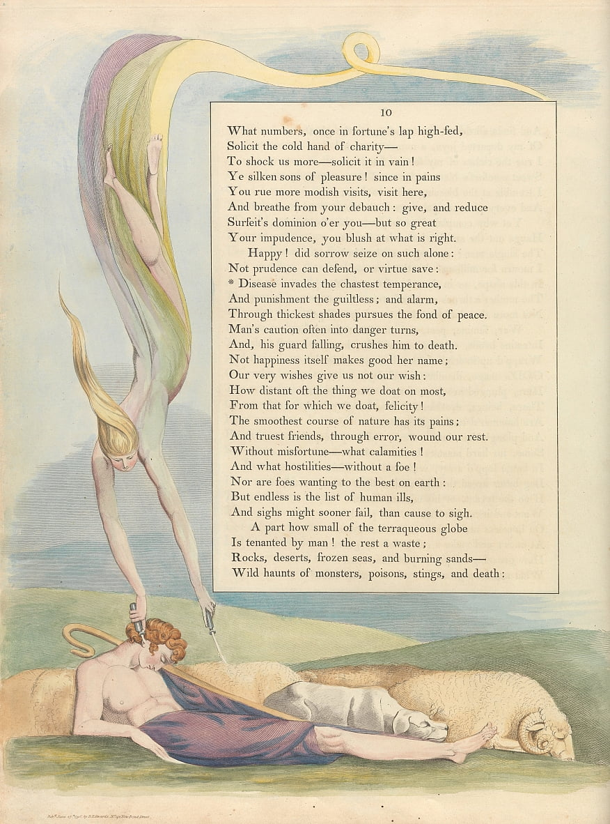Youngs Night Thoughts, Page 10,  by William Blake